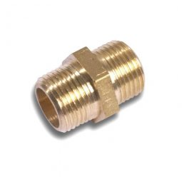 Brass BSP fittings for domestic hot water systems.