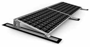 Attach solar panels to flat surfaces