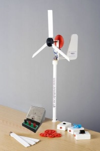 School wind turbine, learn how energy is generated using eind energy.