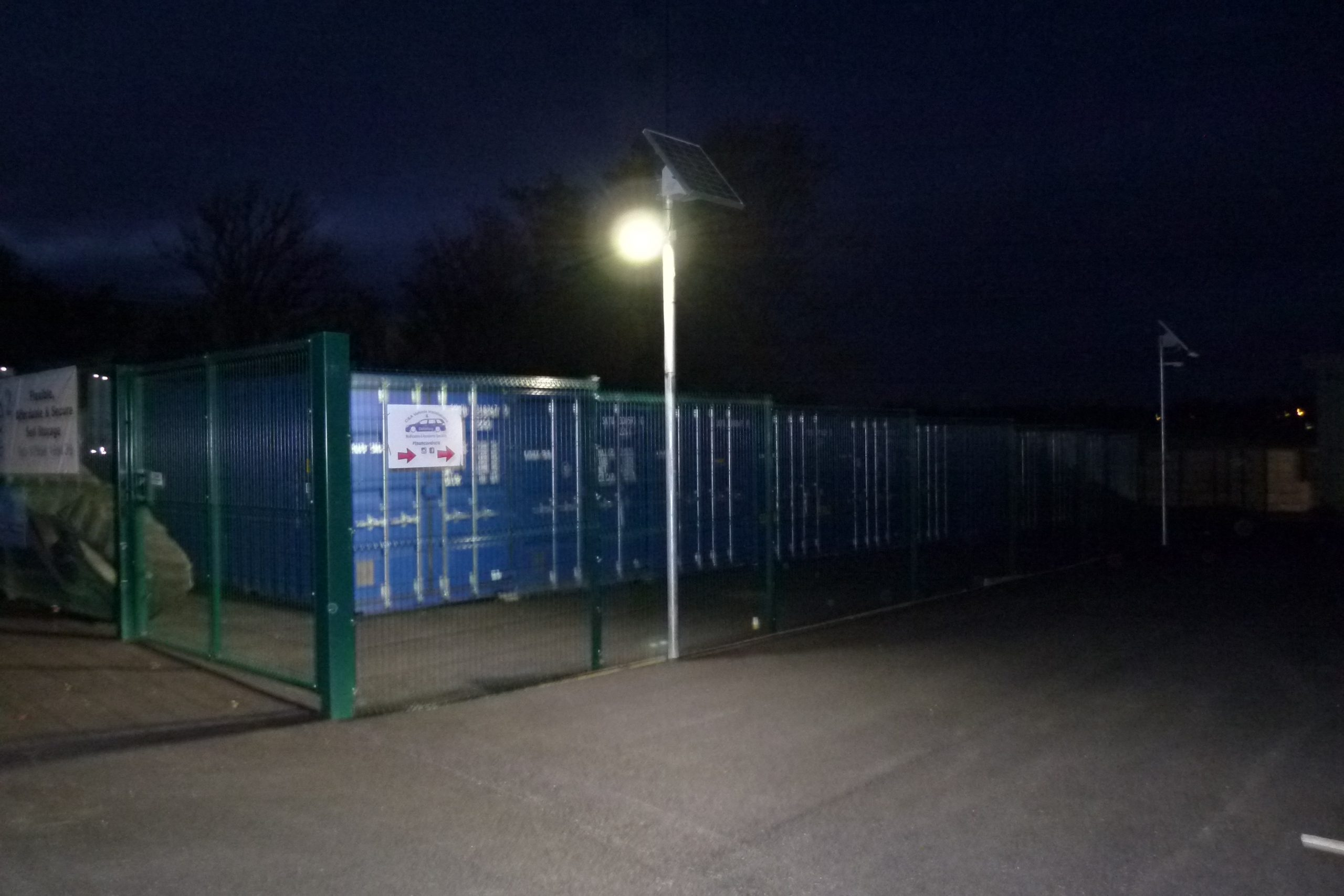 Car park solar lighting