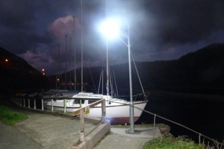 Marina solar lighting