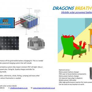 Mobile solar lighting kit