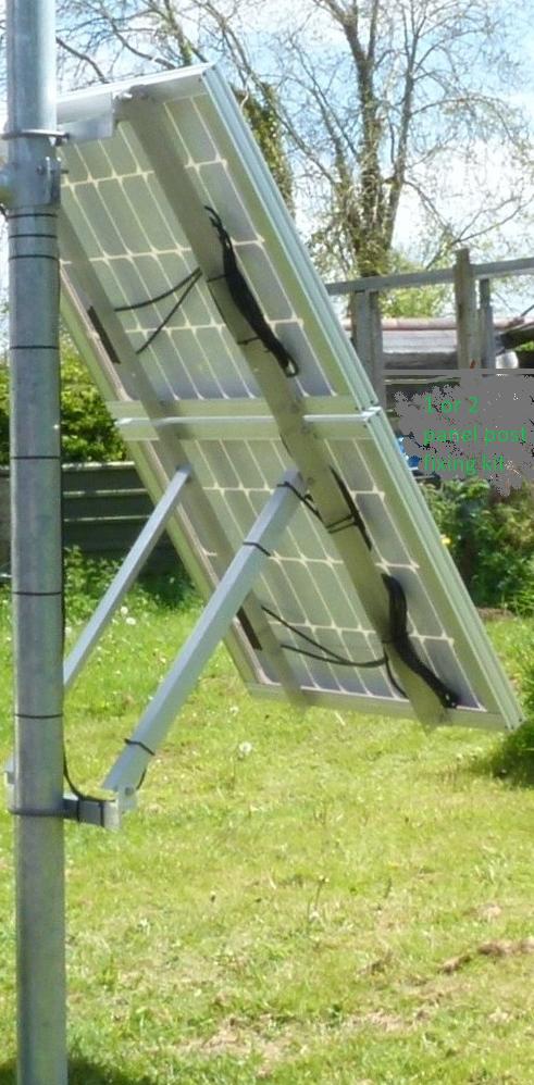 Solar panel post fixing system