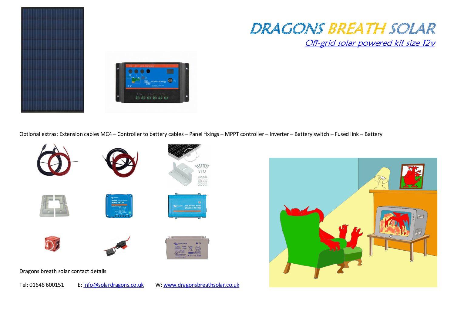 Solar battery charging kits