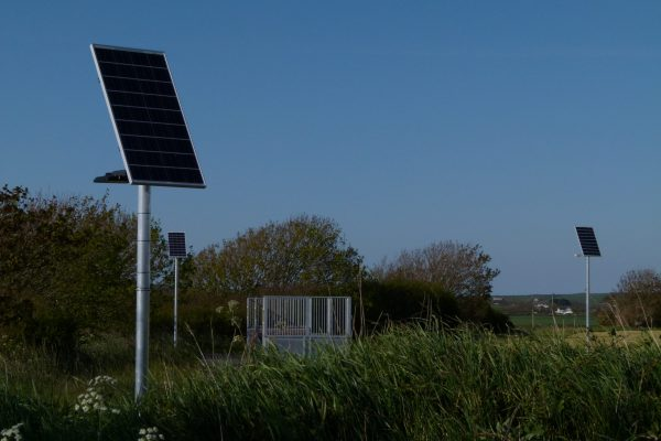 Dragons Breath Solar lighting system for play areas and skate parks