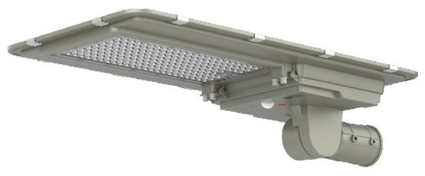 Solar lighting for areas without grid connection, this compact lighting system is designed to connect onto existing steel or aluminium columns of a suitable material specification. They will illuminate via a PIR sensor when adequate irradiance has been stored into the lithium-ion battery pack.