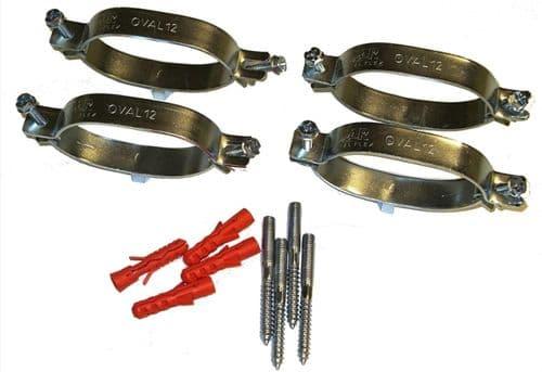 Flexible solar tube fixing bracket