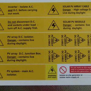 Solar Installation warning set