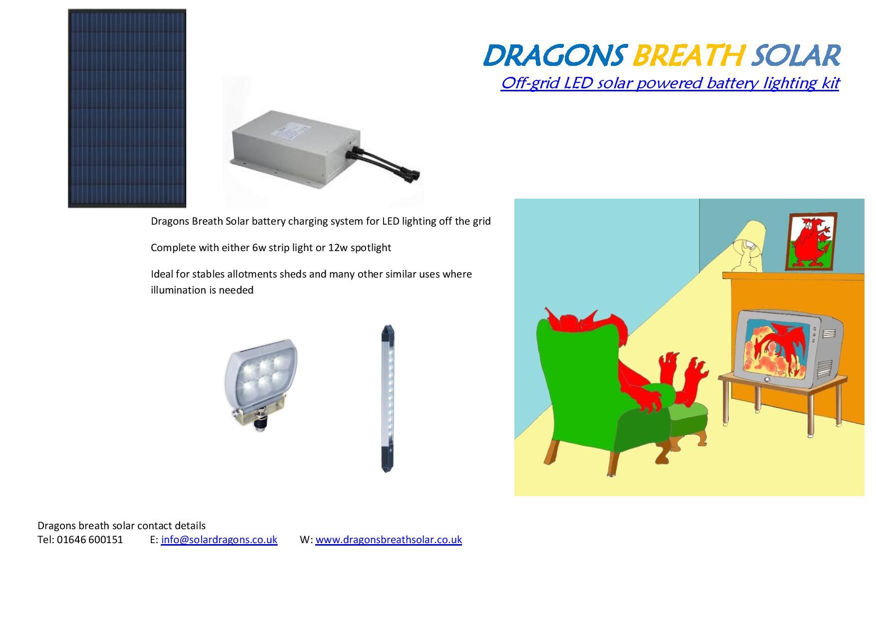 Off grid stable lighting kit