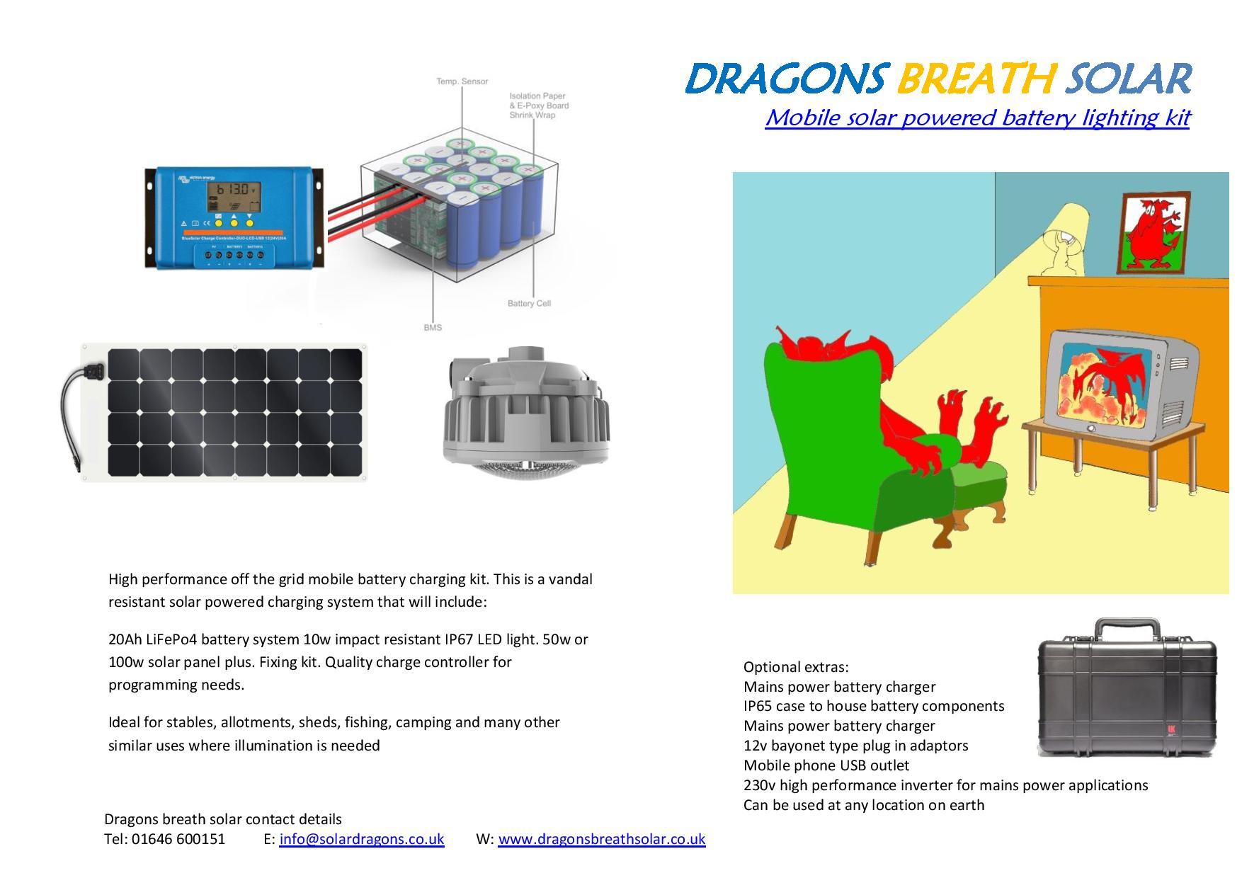 Vandal resistant mobile battery charging system for camping, fishing, sheds and allotments