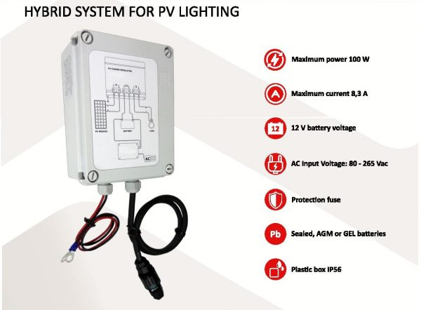 Hybrid solar lighting system 230Vac